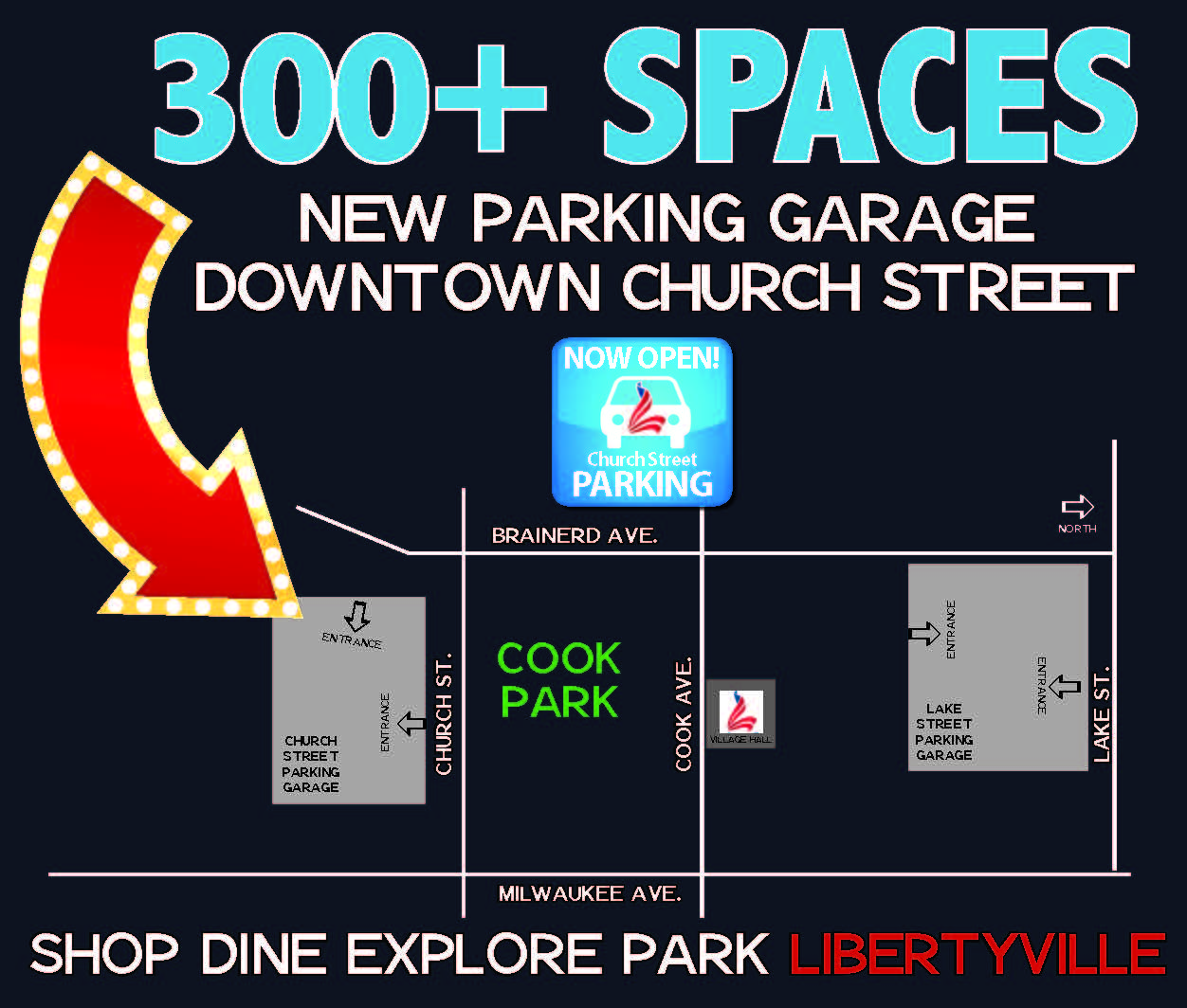 Downtown Church St. Parking Open